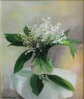 Main Painting - Still Life Of Floral - Oil On Canvas