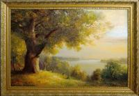 Main Painting - Landscape Of Oak - Oil On Canvas