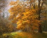 Main Painting - Autumn Landscape - Oil On Canvas