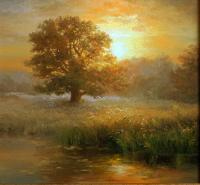 Main Painting - Morning Landscape - Oil On Canvas