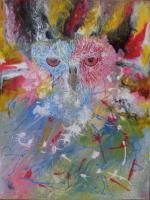 Watching You - Acrylic Paintings - By Kevin Carr, Modern Abstract Fantasy Painting Artist