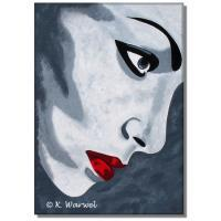 Marla - Acrylics On Canvas Paintings - By Klaudia Warwel, Pop Art Painting Artist