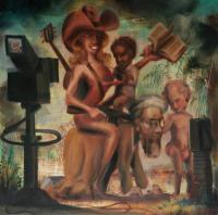 American Utopia - Into Egypt - Oil On Board