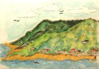 Crusin The Gulf - Hills Of Routan - Pastels