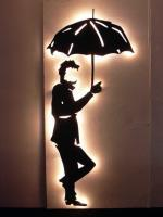 Alfred Art - Man In The Park - -Wood Paint Lights-