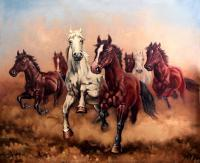 Hurry Up My Horses - Seven Angels - Oil Paintings - By Dusan Vukovic, Realism Painting Artist