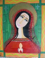 The Prayer - Acrylic Paintings - By Madeline Starling, Self Taught Painting Artist