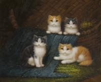 Animals - Cats - Oil On Canvas