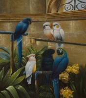 Animals - Parrots - Oil On Canvas