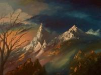 Mountains - Oil On Canvas Paintings - By Anatoliy Yurashchuk, Paintings Painting Artist