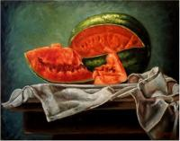Fruits - The Watermelon - Oil On Canvas