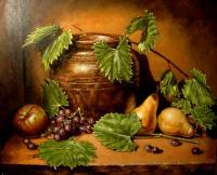 Fruits - Confit Pot With Fruits - Oil On Canvas