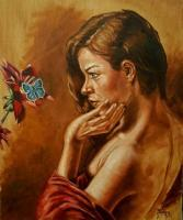 Portraits - Butterfly - Oil On Canvas