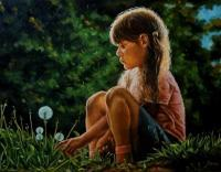 Portraits - Dandelions In May - Oil On Canvas