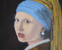 Private - Wip  Cover - Vermeer Pg - Oil Stretched Canvas