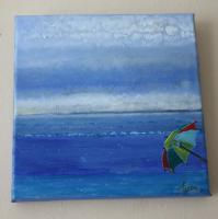 Private - Shore Brolly - Oil Stretched Canvas