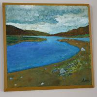 For Sale Range - Highland Shores - Oil On Board - Support