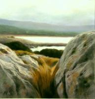 A Place Among The Stones - Pastel Paintings - By Antonino Ercolino, Realism Painting Artist
