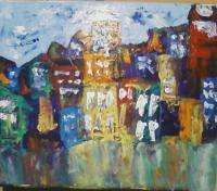 Abstract Cityscapes - Untitled 14 - Oil On Canvas