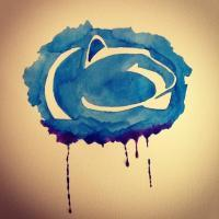 Misc Paintings - Penn State Logo - Watercolor On Paper
