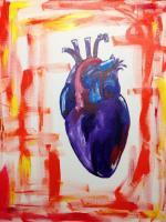Abstract - Cold Heart - Acrylic On Canvas