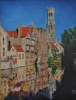 Cityscape - Bruges - Oil On Canvas - 50 X 60 Cm
