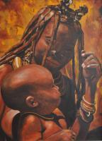 People - Babacar - Oil On Canvas 60 X 80 Cm