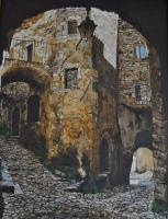 Saint Montant - Oil On Canvas 60 X 80 Cm Paintings - By Massimo Franzoni, Figurative Painting Artist