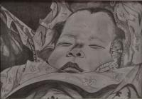 People - La Nanna - Pencil On Paper -
