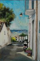 Pisticci - Via Custoza And My Scooter - Acrylic