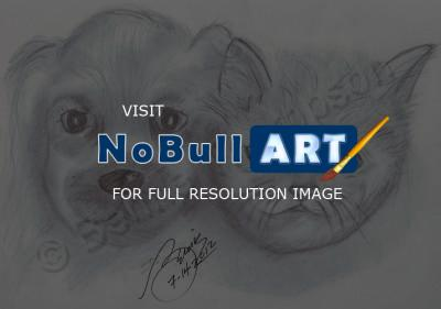 Animals - Puppy Kitty Pals - Pencil  Paper