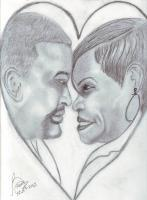 Family - Hubby And Wife - Pencil  Paper