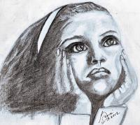Add New Collection - Young Girl Meditates - Pencil  Paper