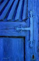 Patzcuaro Mexico - Blue Church Door - Stretched Canvas Giclee Print - Camera_Computer