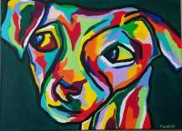 Fido - Acrylic On Canvas Paintings - By Michael Piscatelli, Abstract Painting Artist