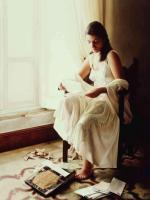 Symbolic Realism - Reading Old Letters Leyendo Unas Cartas Viejas 1999 - Oil On Wood
