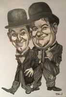 Portraits - Laurel And Hardy - Acrylic