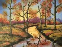 Landscapes - Autumn Sunset - Acrylic