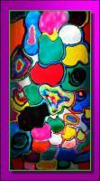 Miracles Interplay - Mixta Glasswork - By Natalia Levis-Fox, Abstract Glasswork Artist