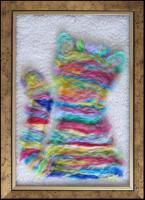 Walls Decoration - Fluffy Pleasure - Woolen Art
