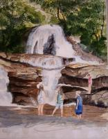Landscapes - Waterfall - Watercolor
