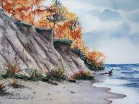 Landscapes - The Cliffs - Watercolor