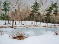 Landscapes - Spring Thaw - Watercolor