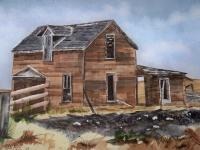 Montana - Abandoned - Watercolor