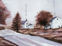Landscapes - Small Town - Watercolor