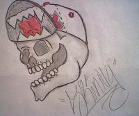 Skull-N-Cap - Shading Pencilsprisma Colors Drawings - By Davian Story, Creativity Drawing Artist