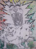 Drawing - Rasta Lion - Add New Artwork Medium