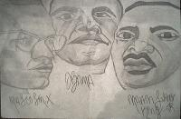 Drawing - Powerful Black Men - Shading Pencils