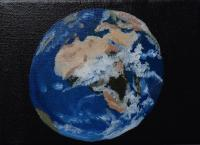 Oil Painting On Canvas - The World - Oil Colour On Canvas