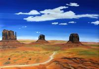 Oil Painting On Canvas - Monument Valley - Oil Colour On Canvas